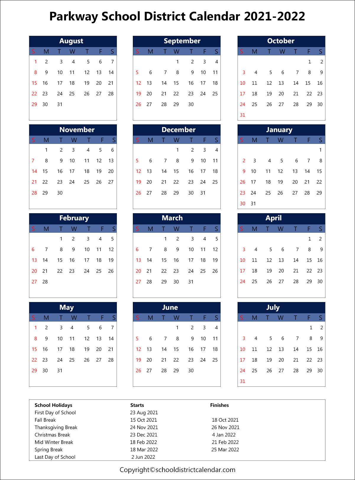 Olympia School District Calendar 2021-22 Pictures