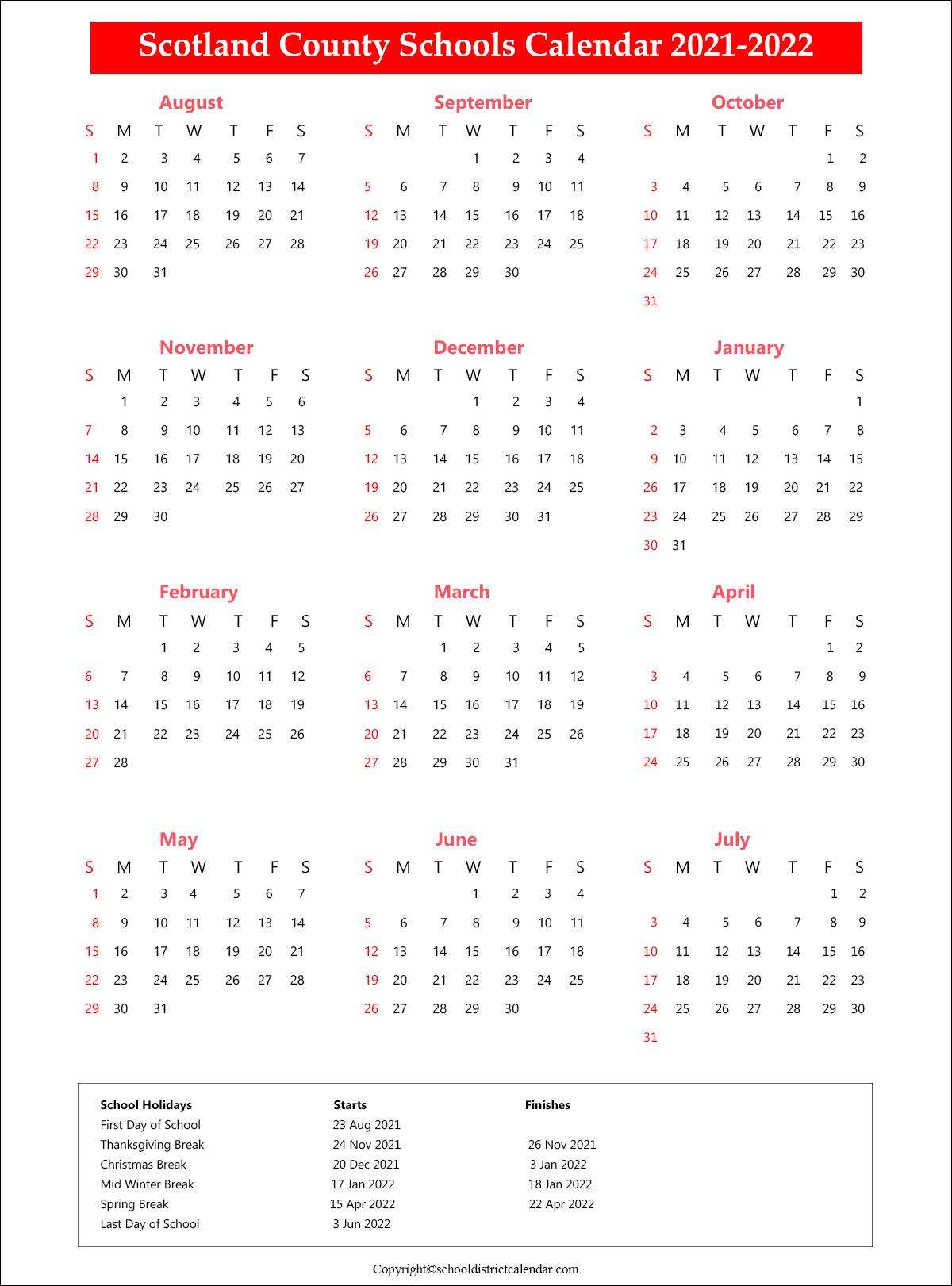 Pinellas County Schools Calendar 2022.Scotland County Schools Holidays Archives School District Calendar